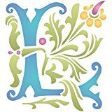 """Monogram L Stencil (size 6.5""""w x 7""""h) Reusable Stencils for Painting walls. Stencilling is an effective and versatile way to customize any flat surfaces you may have. Our stencils are cheap and easy to use and also offer impeccable quality."""