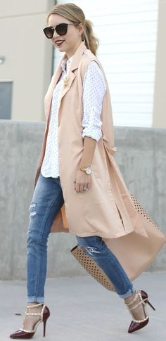 Simply Sutter Peach Long Vest Fall Streetstyle Inspo #Fashionistas