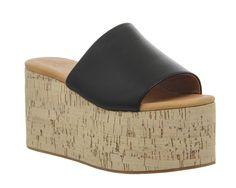 Buy Black Mono Leather Jeffrey Campbell Getaway Flatform from OFFICE.co.uk.