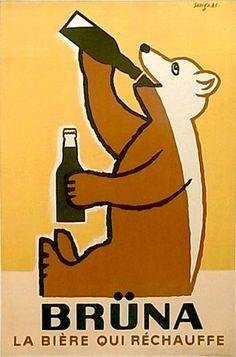 Raymond Savignac — Brüna, La bière qui réchauffe (1950)