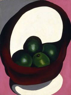 Alligator Pears by Georgia O'Keeffe, 1920/21. Oil on canvas