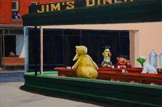 nighthawks parodie 002 23 parodies de Nighthawks dEdward Hopper  liste design art