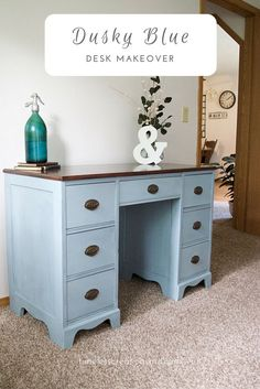 A cute little writing desk gets a beautiful makeover. Have any of you every tried Miss Mustard Seed's Milk paint? This sweet little desk is the first of many projects that will be painted with that awesome powdered paint! We hadn't tried it before because we really liked the convenience of other paints (that were already mixed). I know I was a little wary of having to mix this milk paint. But wow, oh wow, why I was ever afraid of that I have no idea! It was unbelievably easy, and the paint…