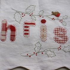 caroline zoob embroidery hand-embroidered christmas banner