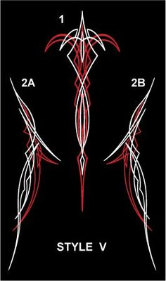 Winners Cycle Graphics Old School DESIGN chart with 26 different pinstripe designs