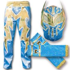 WWE Blue Sin Cara Combo Deal: Replica Mask, Pants & Armbands by WWE. $149.99. WWE Blue Sin Cara Combo Deal: Replica Mask, Pants & Armbands.  Comes with one replica mask, one pair of pants and one pair of armbands.    Masks cover your entire head, just like Sin Cara's on television.  This collectable design is handmade and carefully crafted to protect the integrity of the mask.  Masks are made of a stretchable material with faux leather accents and come in one size fits most for ...