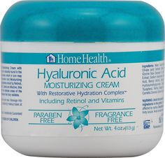 Hyaluronic Acid Moisturizing Cream - 4 oz. by Home Health (pack of 6) 2 Pack - Farmstead Apothecary 100% Natural Apothecary Lip Balm, Boysenberry Vanilla 0.50 oz