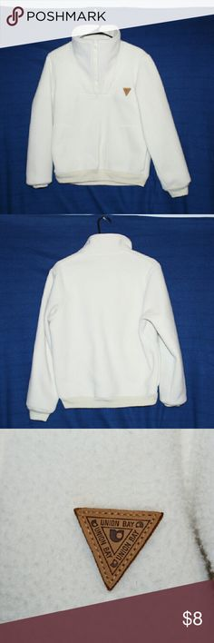 Union Bay Soft Pull Over Union Bay Soft fleece pull over, thick fleece, wide neck, gently worn. Nice pull over for the fall weather. UNIONBAY Sweaters Crew & Scoop Necks