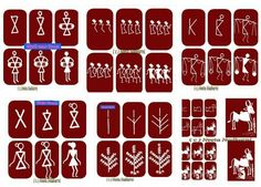 Easy Drawings Easy warli paintings Courtesy: Easy Drawing for Kids Indian Arts And Crafts, Art Painting, Worli Painting, Painting For Kids, Indian Folk Art, Traditional Paintings, Drawing For Kids, Art, Folk Art Painting