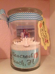 Kinley's 1st vacation memory jar!