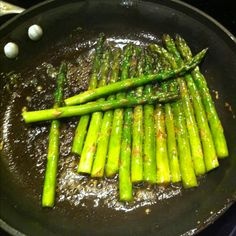 Brown sugared asparagus is better with too much butter