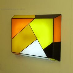 Illuminated Stained Glass Art by Apple Leaf Design