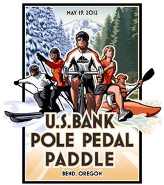 One of the coolest competitions ever: ski, bike, kayak and run!