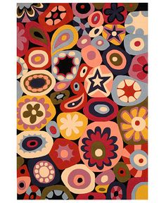 rug for craft room, like the funky colors and shapes