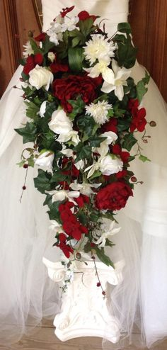 Feed Pictures - Wedding Bouquets Red Rose Cascades Wedding Bouquet 1 Wedding