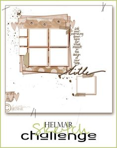 Helmar Design Team: Helmar's NOVEMBER Challenge