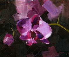 First Orchid, painting by artist Qiang Huang