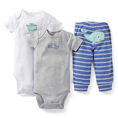 3-Piece Bodysuit Pant Set, carter's