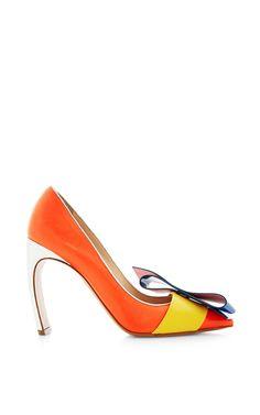 Roksanda Color Block Curved Heel Pump by Nicholas Kirkwood