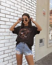 Edgy Summer Outfits, Summer Outfit For Teen Girls, Teen Fashion Outfits, Mode Outfits, Cute Casual Outfits, Look Fashion, Hipster Outfits, Fashion Hacks, Vintage Summer Outfits