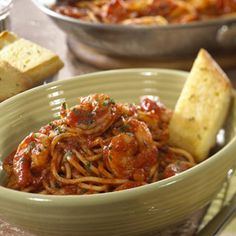 Our Most Popular Spaghetti Recipes - Pasta - Recipe.com roasted garlic and herb shrimp  with spaghettti