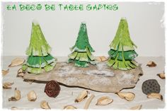 DIY : une déco de table sapins enneigés