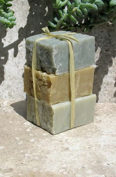 ARTISAN vegan ORGANIC unscented mini clay soap set / spa