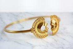 Perfect gift for sister. Gold Plated Bracelets – 24k Gold Plated Tribal Bracelet, boho bracelet – a unique product by Fura_Tena via en.DaWanda.com