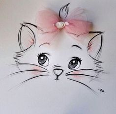 blu eyes, blue, blue eyes, cat, cute, disney, love, marie, meow, miao, minou, nyan, pink, pretty, the aristocats, white