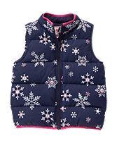 Snowflake Puffer Vest