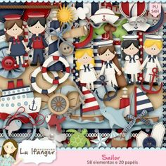 Kit Digital Sailor by Lu Ifanger - R$11,20 : Boutique do Scrap
