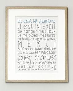 """Image of Affiche """"Ici, c'est MA chambre"""" - Angela Pt."""