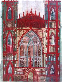 Beverley Minster - Ed Kluz British Architecture, Historical Architecture, Collage Drawing, Collage Techniques, Cityscape Art, Building Art, Inspirational Artwork, Architectural Features, Modern Artists