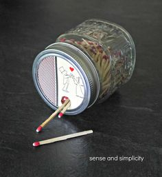 Sense and Simplicity: Mason Jar Matchbox