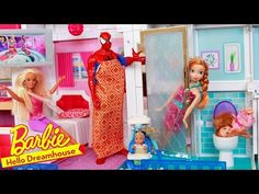 Barbie Dreamhouse Parody Hello Dreamhouse Funny Fail Voice Activation Baby Doll Elevator Smart Home - YouTube