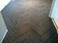 stone herringbone flooring | Grant K. Gibson Interior Design