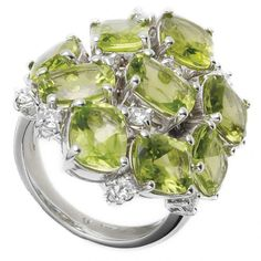 Peridot and diamond ring: Malibu collection by ANTONINI