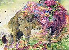 "'Let Me Be Your Paradise"" by Jongkie. Watercolour Illustration"