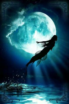Fairy in flight   Moon and Mermaid