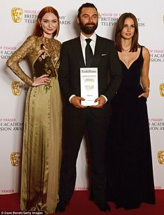 BAFTA TV Awards 2016: Eleanor Tomlinson, Aidan Turner, and Heida Reed