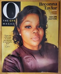 Oprah Magazine Breonna Taylor Sept 2020 | Mercari Oprah Winfrey, Beyonce, Angel's Feather, O The Oprah Magazine, Afro, Say Her Name, Killed By Police, 24 Years, Digital Portrait