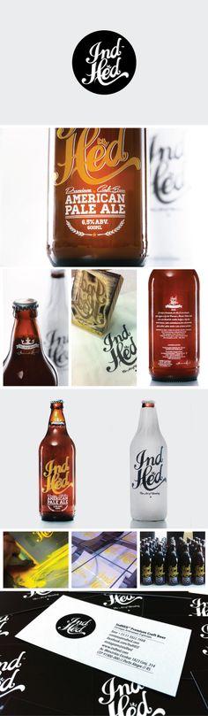 IndHED Premium Craft Beer Package Design by IndustriaHED (via Creattica)