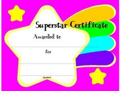 Certificate Template for Kids-Free Printable Certificate Templates for School, Perfect Attendance Certificate Templates, English Certificate Templates, Math Certificate Templates and more!