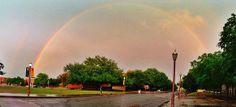 Amazing rainbow on the #Baylor University campus yesterday. #GodsPromise