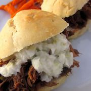 Slow Cooker BBQ Apricot Pulled Pork Sandwich Recipe - Six Sisters ...