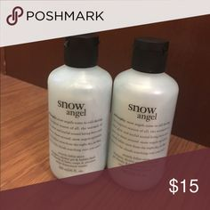 Philosophy 3-n-1 Shower Gel THIS LISTING IS FOR 1 BOTTLE. Philosophy Snow Angel shampoo, shower gel and bubble bath Gentle enough for everyday use 6oz. shower gel, bubble bath and shampoo Philosophy Makeup