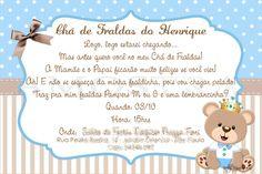 Convite Tema Ursinho Principe Convite Cha De Fraldas Pictures To Pin