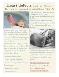 CHD - pregnant mommas - PLEASE ask for Pulse Ox test!