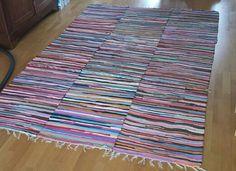 Rag rugs sewn together
