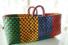 Weaving Patterns, Wire Crafts, Cloth Bags, Arts And Crafts, Crafty, Tote Bag, Google, Baskets, Menswear